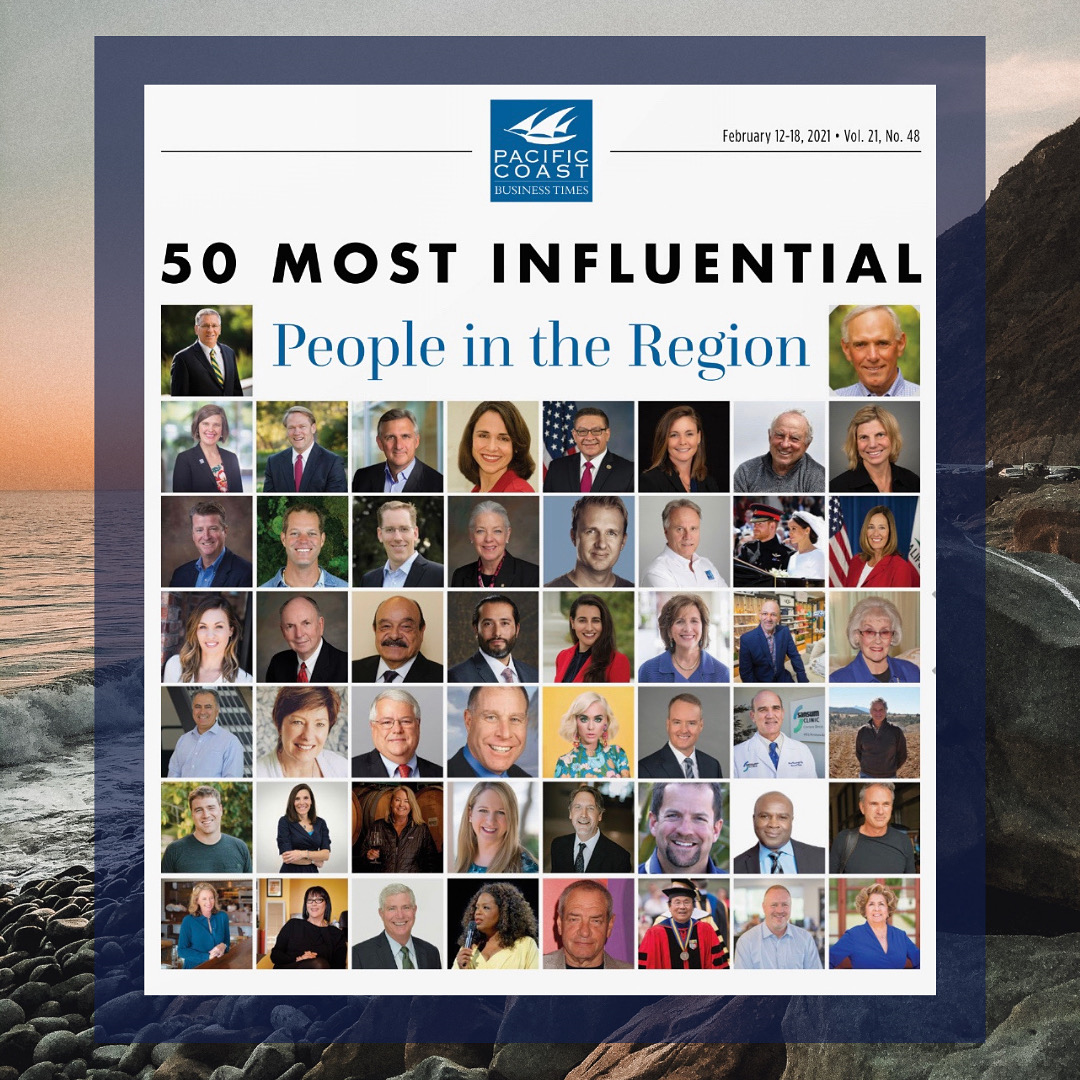 An image depicting small photos of all fifty of the most influential people in the region.