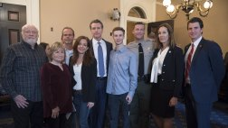 Asm. Irwin and Gov. Newsom with family